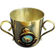 S.S. Remuera Souvenir Miniature Loving Cup - New Zealand Shipping Co.