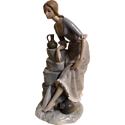 Lladro NAO Large Figurine 'Girl With Water Jugs'