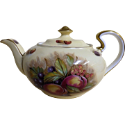 Gorgeous Aynsley 'Orchard Fruits' Tea Pot