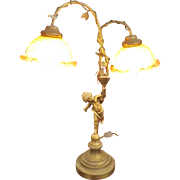 Sensational Old 'Cherub' Lamp - Circa 1910-1920