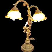 Sensational Old 'Cherub' Lamp - Circa 1910-1920