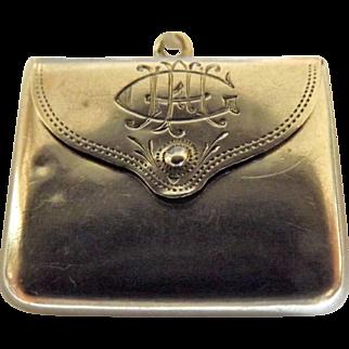 Lovely little  Edwardian Era Sterling Silver Stamp Holder - Birmingham 1908