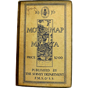 Malaya Motor Map 1936 - Published By The Survey Department