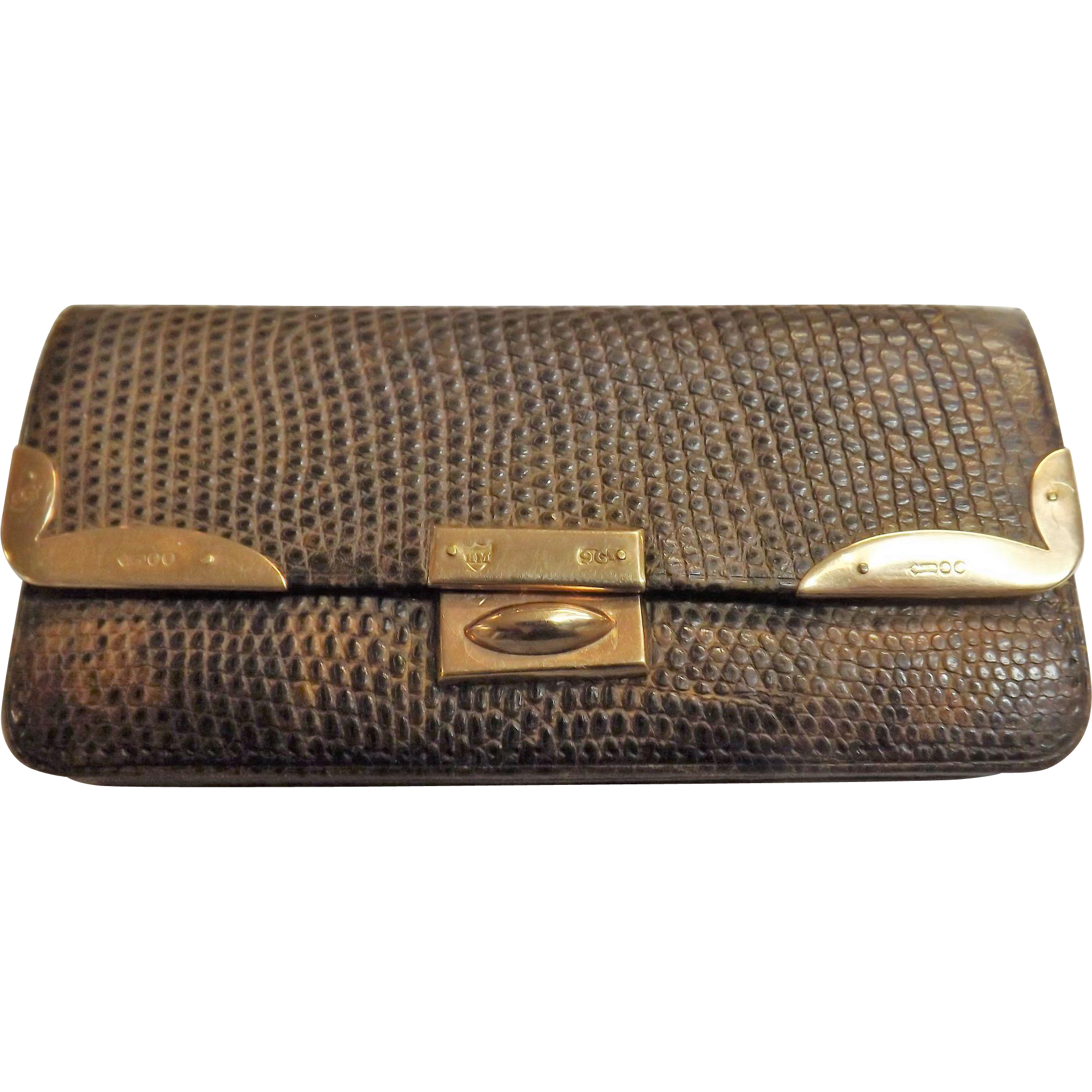 Victorian Snakeskin Pocket Purse With 9 Carat Gold Fittings