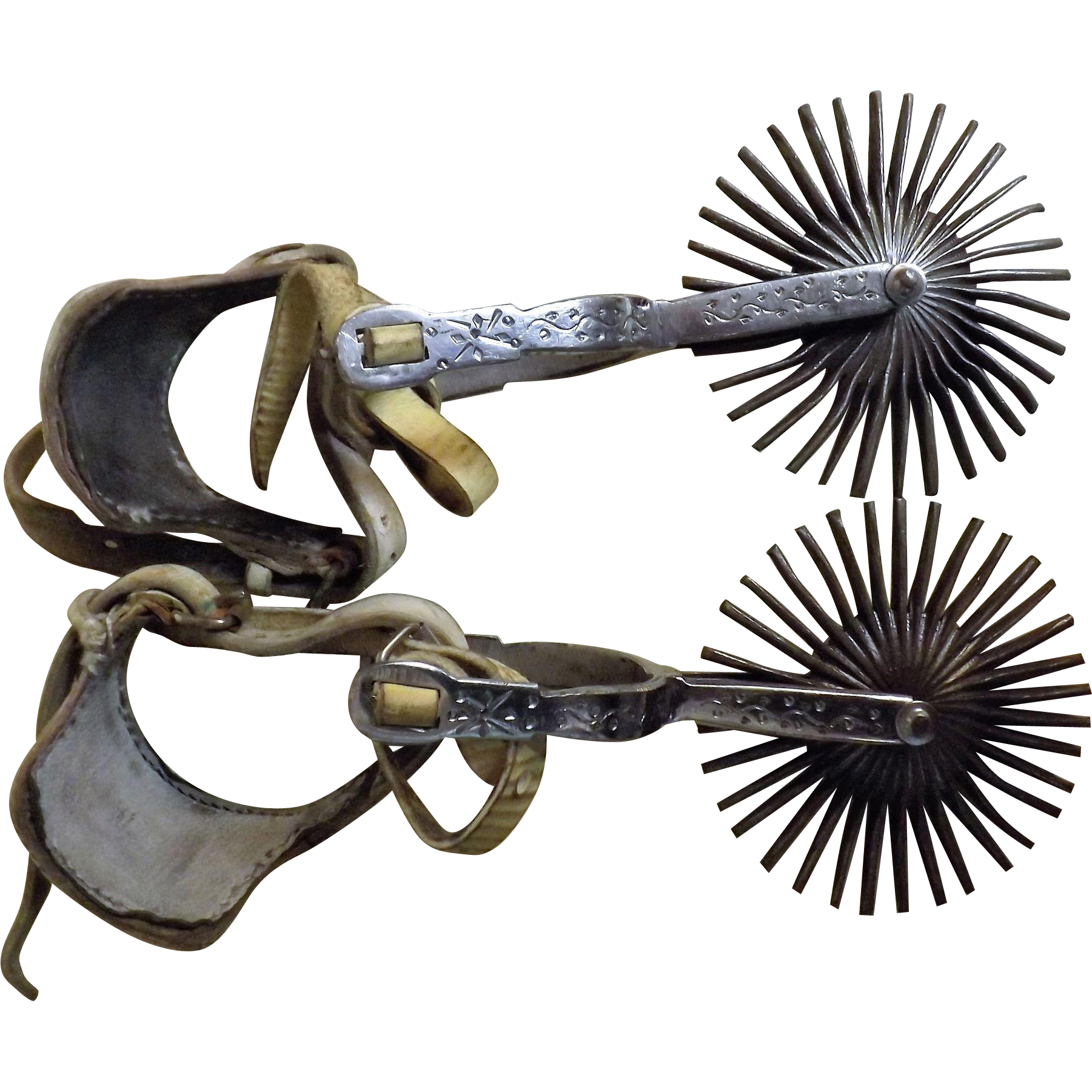 South American Gaucho Spurs - Chile Circa Early to Mid 20th Century