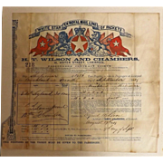 White Star Ex-Royal Mail Line Of Packets Original 1869 Passenger Contract Ticket