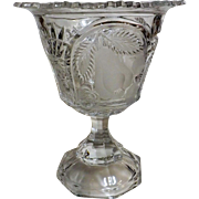 Splendid Crystal Glass Pedestal Vase