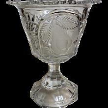 Splendid Crystal Glass Pedestal Vase
