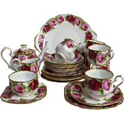 Royal Albert 'Old English Rose' Tea Set - 23 Pieces