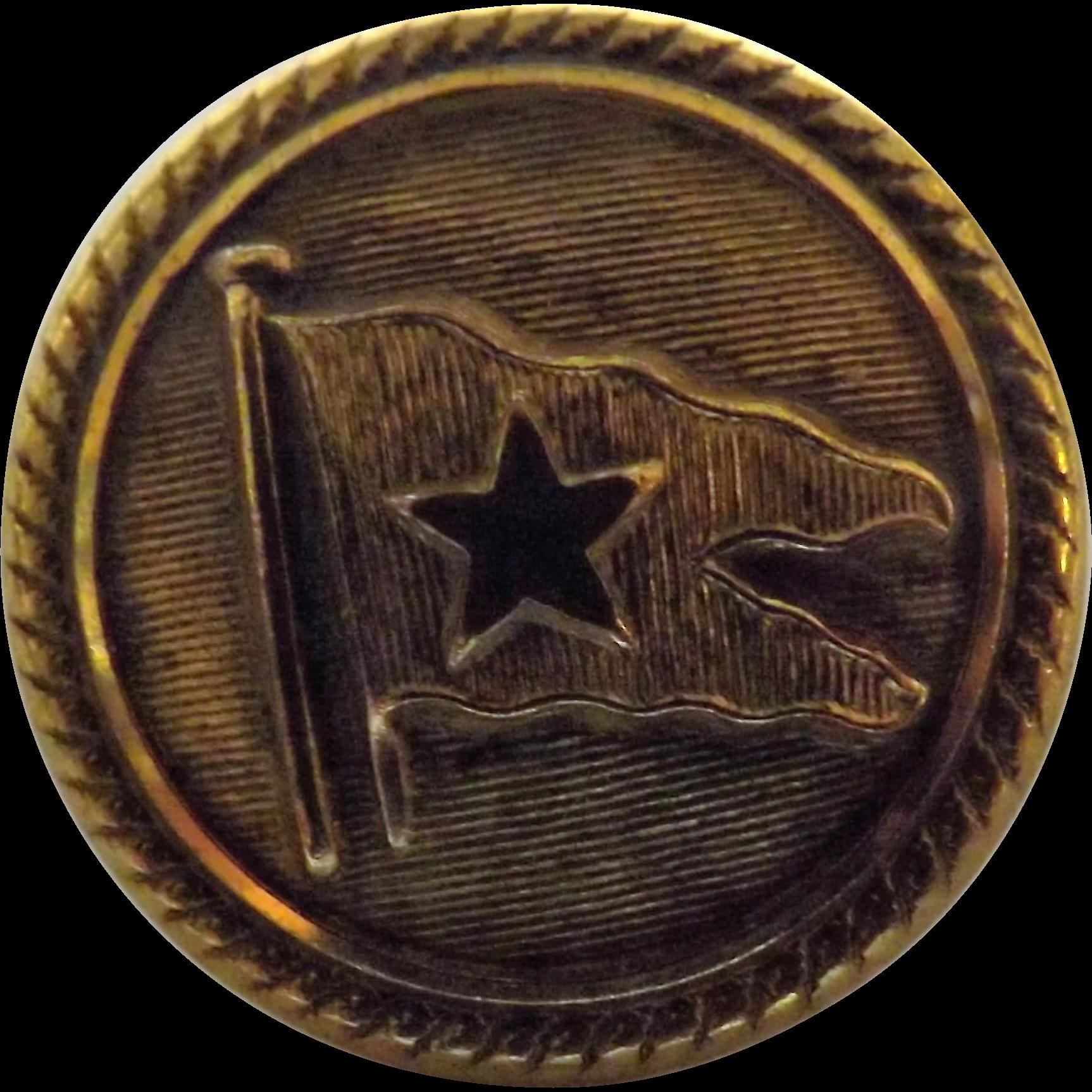 White Star Line Gilt Brass Button - Miller & Son Southampton