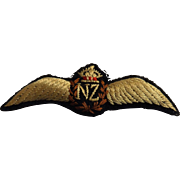 RNZAF  Pilot Wings - Cloth - Kings Crown WW TWO