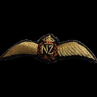 RNZAF  Pilot Wings - Cloth - Kings Crown WW TWO