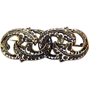 German Filigree Sterling Silver Brooch - Circa 1890-1910