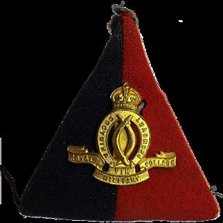 Royal Australian Military College Gilt Badge -  Kings Crown