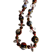 Simply Lovely Venetian Glass Necklace - Circa 1970