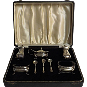 Boxed Sterling Silver Condiment Set - William Suckling 1955