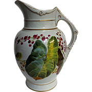 Victorian 1880 Bathroom Water Jug  - Hand Painted