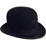 Gentleman's English Bowler or Derby Hat  By George Plant of Market Drayton
