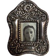 A Tiny Peruvian 925 Silver Photo Frame - Circa 1940