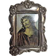 A Small Peruvian 925 Silver Photo Frame