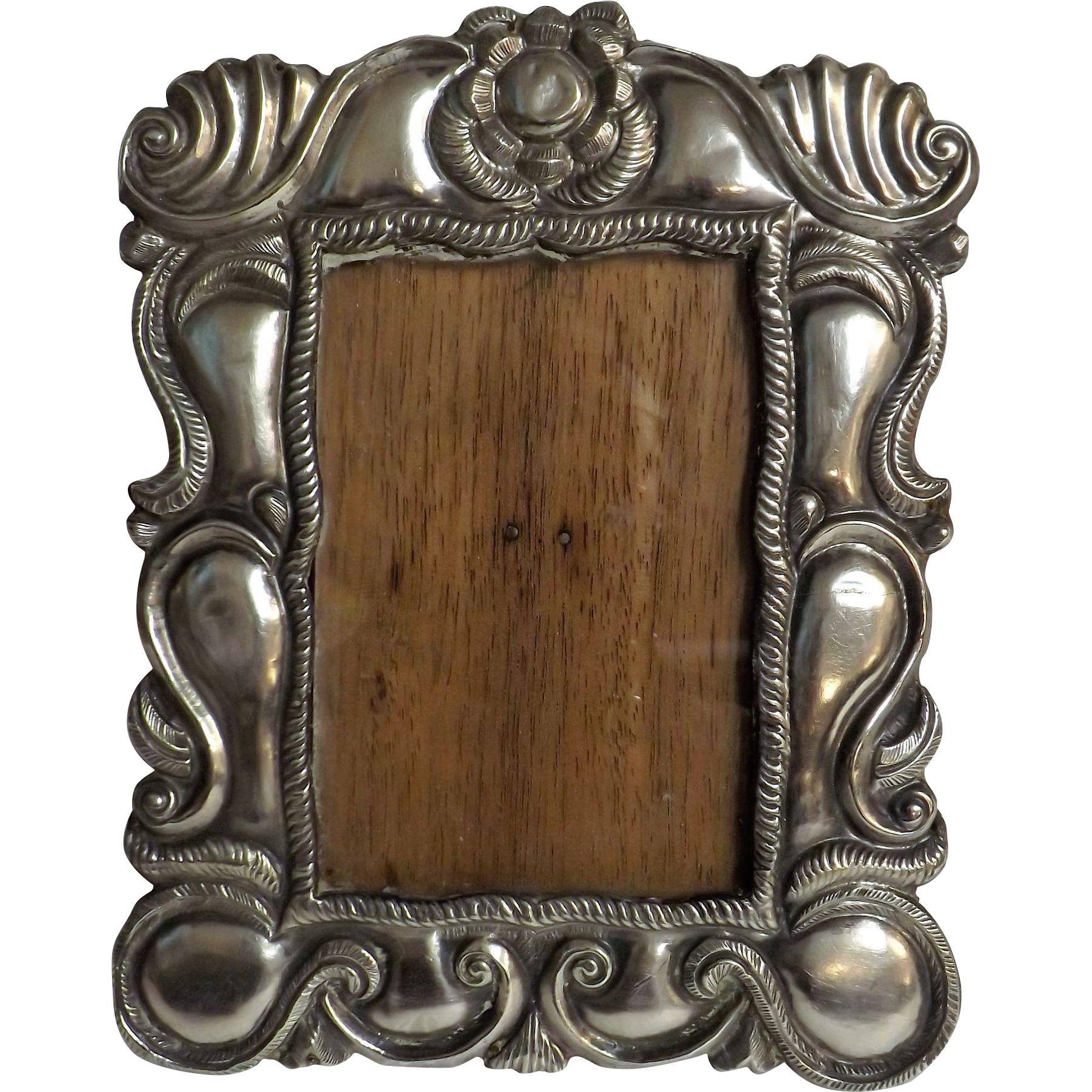 Gorgeous Peruvian Colonial Style Photo Frame - Silver 925 Circa 1940