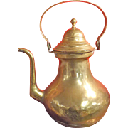 Huge Victorian Brass Tea Pot