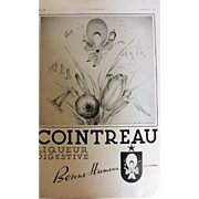 L'Ilustration French Magazine Original COINTREAU Liqueur DECO Advertisment 1940