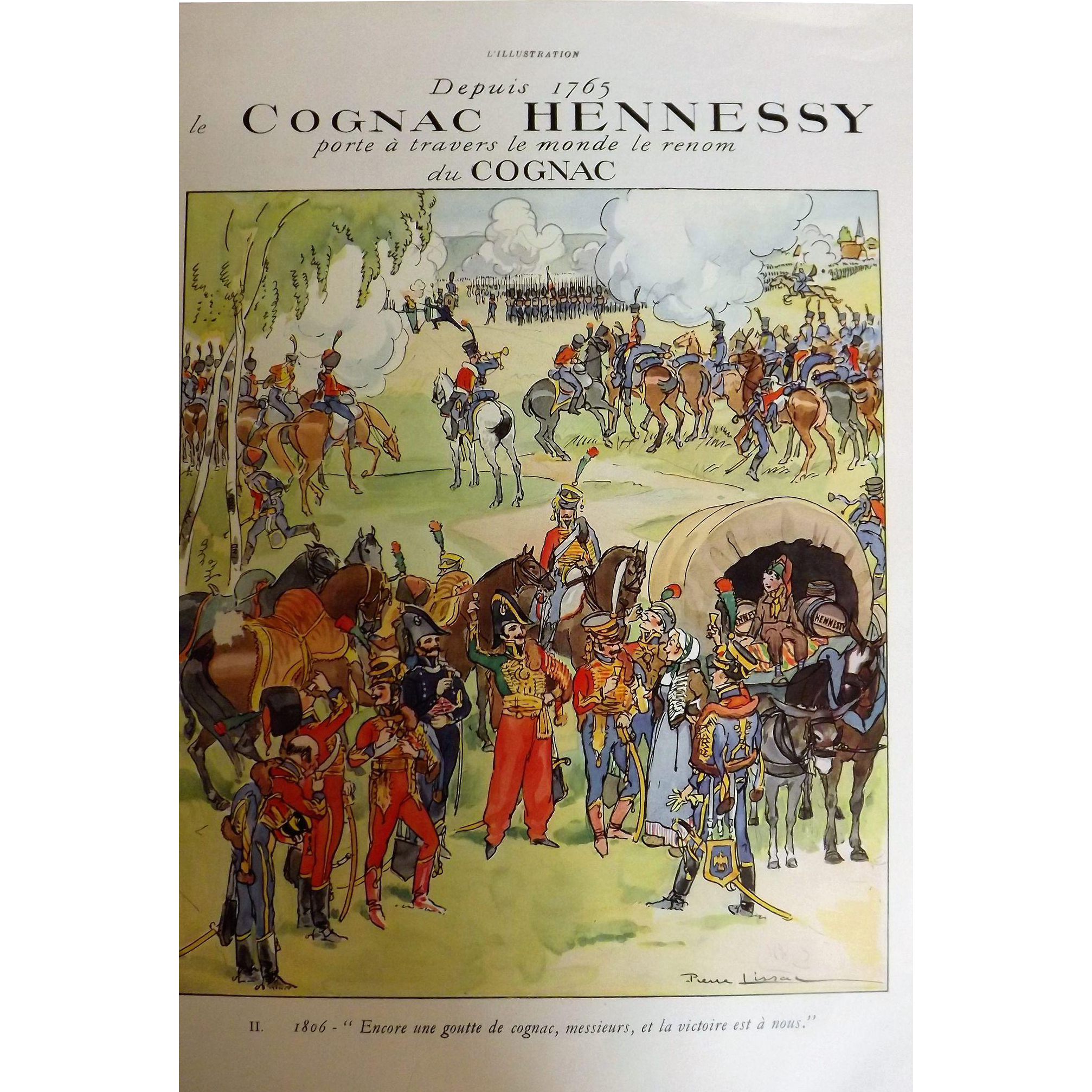 L'Ilustration French Magazine Original Hennessy Cognac DECO Advertisement 1937