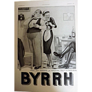 L'Ilustration French Magazine Original BYRRH Aperitif DECO Advertisement 1940