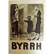 L'Illustration French Magazine Original  BYRRH Aperitif DECO Advertisement 1938
