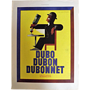 L'Illustration French Magazine Original  DUBONNET / EVIAN  - DECO Advertisement 1937