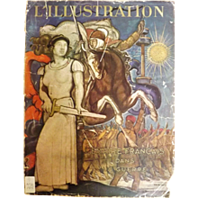L'IIlustration French Magazine Original  FRONT COVER 1940