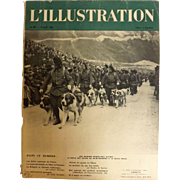 L'IIlustration French Magazine Original  FRONT COVER 1938 - Saint Bernard Dogs in The Alps