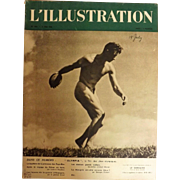 L'IIlustration French Magazine Original  FRONT COVER 21 Mai 1938 Plus 8 pAGE Feature - Berlin Olympics