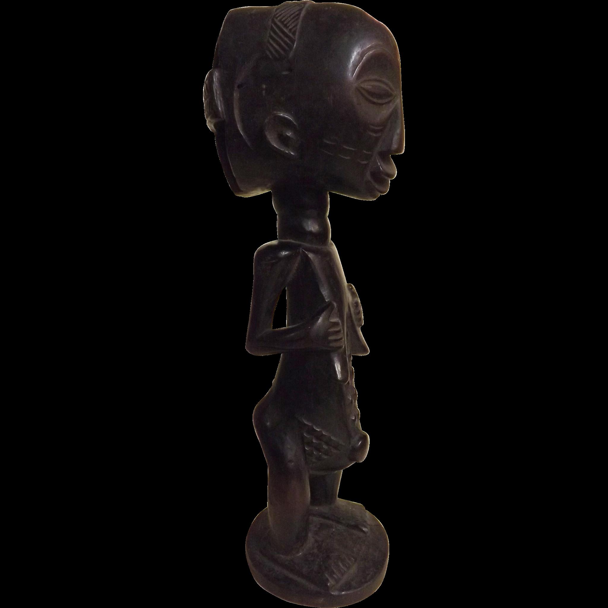 Luba - Hemba Tribal Ancestor Figure - Circa Early 1900's