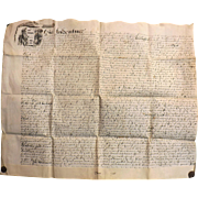 15th Century  English Indenture Vellum Document - 1656  -  Cromwell Period