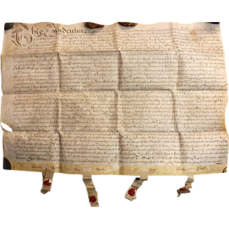 17th Century  English Indenture Vellum Document - Dated 1689  -  King William 111 Period