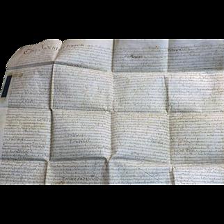 18th Century English Vellum Indenture Document - Dated 1746 - King George 11