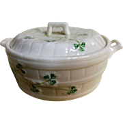 BELLEEK 'Shamrock' Butter Tub - Circa 1946-1955