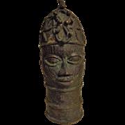 Benin Tribe Bronze Head - Nigeria, Africa