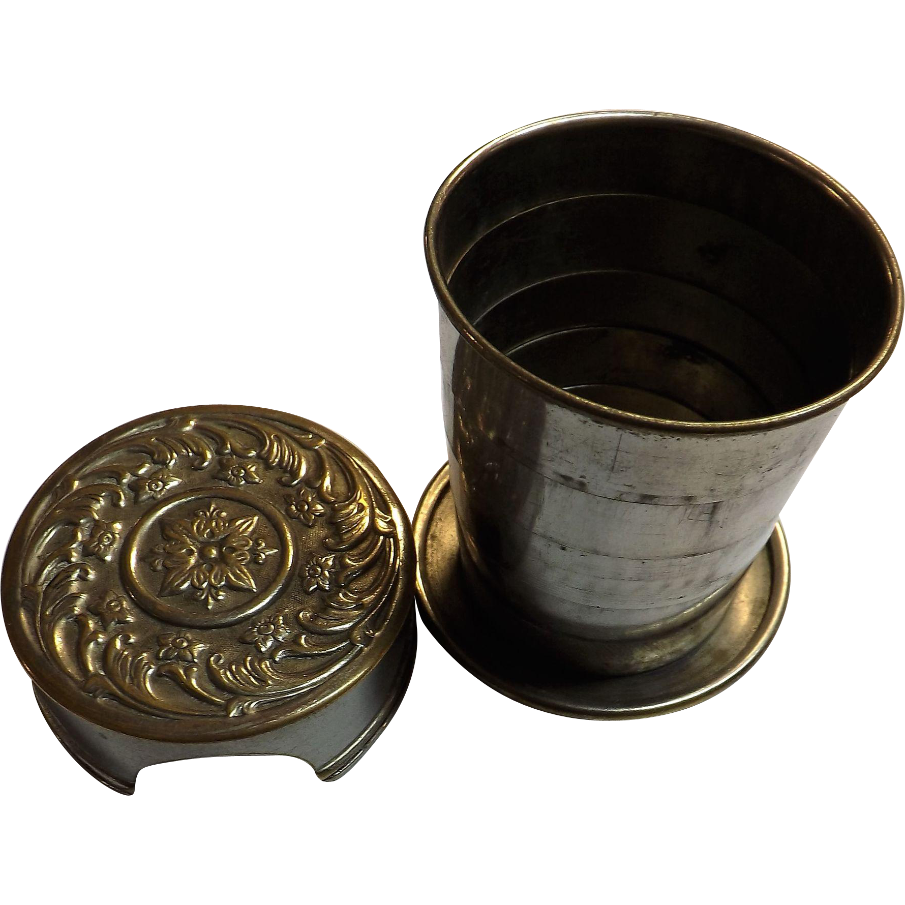 Victorian Collapsible Small  Pocket Travelers Cup