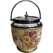 Superb Victorian Era Carlton Ware Biscuit Barrel - 1895