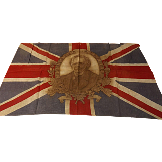 Union Jack Flag With David Lloyd George