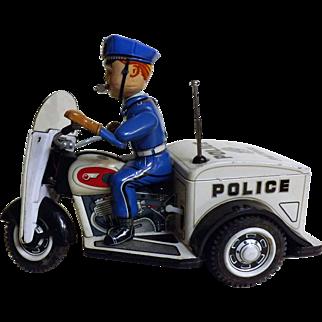 Patrol Auto Cycle - T.N. Toys Japan Circa 1960