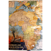 Woermann Line Advertising Poster - Original Shipping Piece Circa 1916