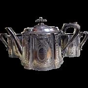 "1905 Edwardian Presentation Tea Set - Wedding Gift From ""The Caulkers"" of PORT GLASGOW, Scotland"