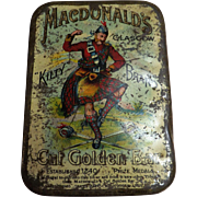 Macdonald's Glasgow KILTY Brand 'Golden Bar' Tobacco Tin - Circa 1910