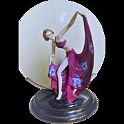 Genuine 1930's Art Deco Figural Table Lamp