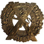 London Scottish - World War One Badge
