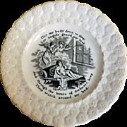 Victorian 'Child's' Religious 'Motto Ware Plate